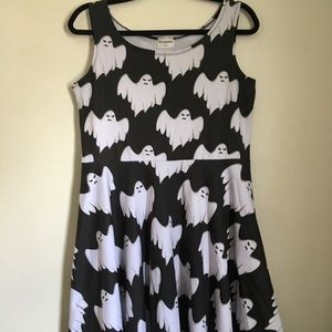 Gothic Ghost Skater Dress to Haunt Your Dreams! XL